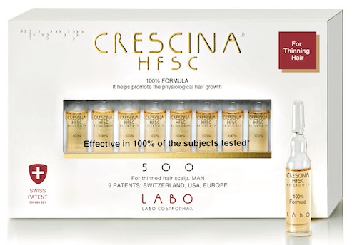 Crescina hair thinning treatment